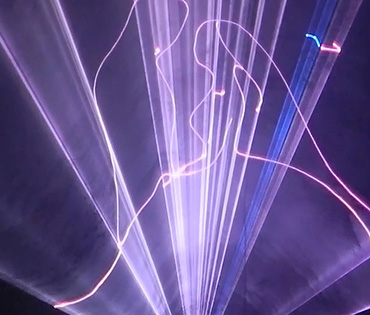 Световое и лазерное шоу на свадьбу